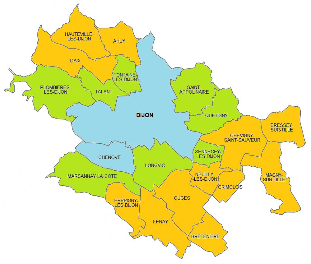 Carte du Grand Dijon